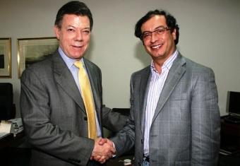 El presidente Juan Manuel Santos y el alcalde de Bogotá Gustavo Petro- Foto: www.semana.com