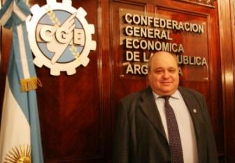 Ider Peretti, presidente de la Confederación General Económica (CGE). Foto InfoGEI