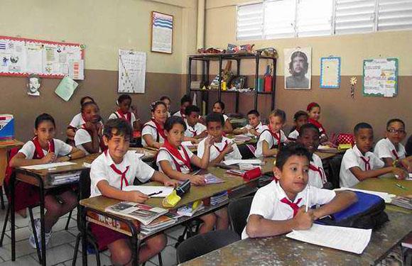 Niños-en-una-escuela-de-La-Habana