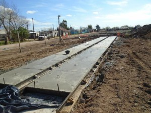 Obras para prevenir inundaciones.