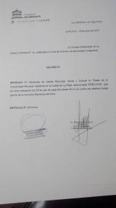 """Decreto Declaración interés """"Perú Vive"""""""