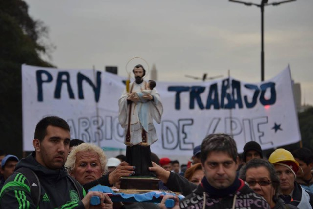 Argentina: protesta y marcha de Barrios de Pie