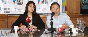 La Diputada nacional, Victoria Donda, y el Secretario General de Libres del Sur Provincia de Buenos Aires, Jorge Ceballos