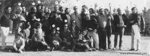 Oscar Steimberg en 1972 con Oesterheld, Quino, Lino Palacio, CaloI, Roberto Fontanarrosa, Alberto Breccia, Hermenegildo, Sabat, Crist...etc