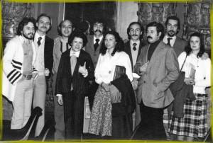 Patricia Coto con R. Dalceggio, Horacio Laitano, Abel Robino, César Cantoni, etc., en 1978.