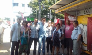 Oscar de Isasi acompañando a los trabajadores de la salud