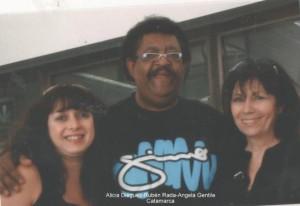 Ángela Gentile con Alicia Diéguez y Rubén Rada.