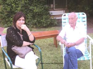 Ángela Gentile con Juan Octavio Prenz