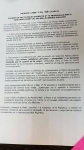 congresistas del Perú rechazan dnu de Macri