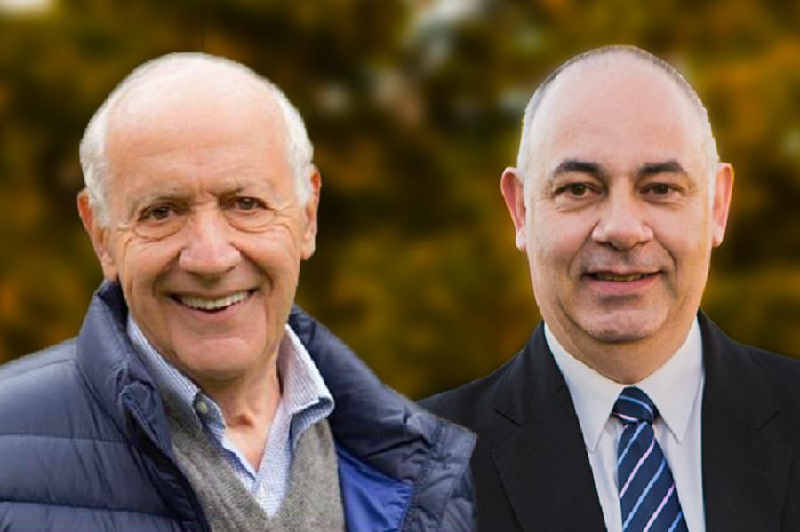 Roberto Lavagna y Gabriel Crespi