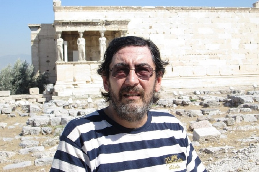 Luis Benítez 35 - en el Partenón, Atenas, Grecia, 2016